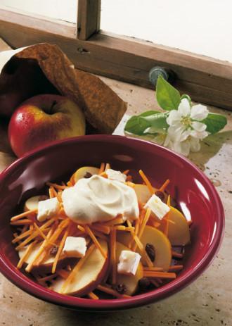 Salat-Rezept: Apfel-Möhren-Rohkost (Vegetarier geeignet) - Foto: Wirths PR