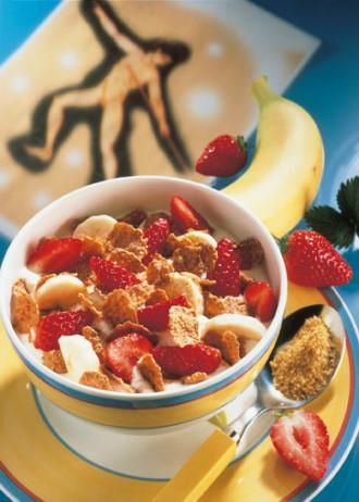 Erdbeer-Bananen-Müsli (Vegetarier geeignet) - Foto: Wirts PR