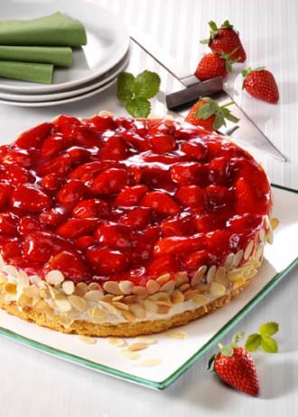 Backrezept: Erdbeer-Quark-Torte - Foto: Wirths PR