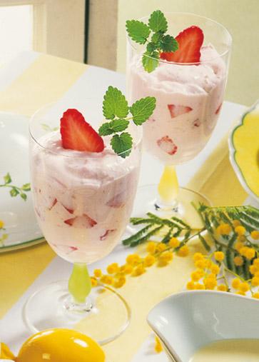 Erdbeer-Quarkdessert (Vegetarier geeignet) - Foto: Wirths PR