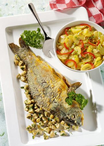 Hauptgericht-Fisch: Silvester-Karpfen - Foto: Wirths PR