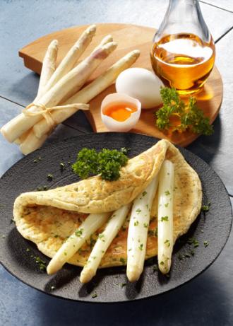 Spargel-Omelette (Vegetarier geeignet) - Foto: Wirths PR