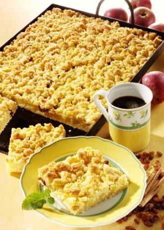 Backen: Apfelstreuselkuchen (Vegetarier geeignet) - Foto: Wirths PR