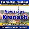 News-24 - Today - Franken - Kronach - Aktuell -