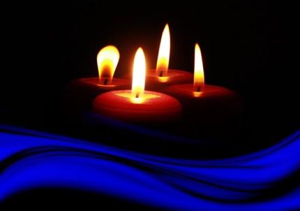 Candle-Light-Schwimmen im Freibad -