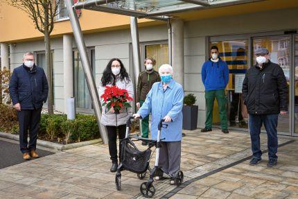 Weihnachtssterne Seniorenheime